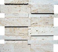 Brogliato Revestimentos - Coleções - 3D Mosaic - D080 Travertino Romano - 30x30cm.
