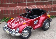 RARE Children's Medal JUNIOR Sportsters VW Bug Beetle RIDE Pedal PEDDLE CAR #JuniorSportsters