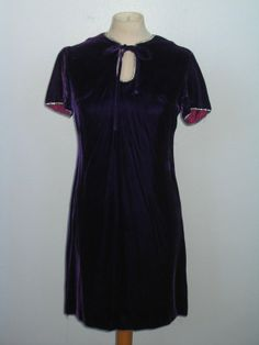 Purple Velvet Vintage Party Dress with by MillerAndCampbell, $42.00