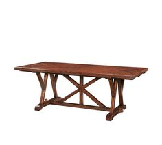 An Antiqued Mahogany Monastery Dining Table, The Planked Top With Chevron  Parquetry Ends, On