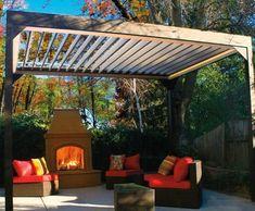 Apollo Opening Roof Pergola| Wood Pergolas, Solid Cellular PVC Pergolas and Hollow Vinyl Pergolas from Walpole Woodworkers
