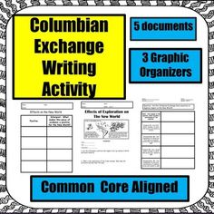 the columbian exchange a power point lesson the worksheet educational finds and teaching. Black Bedroom Furniture Sets. Home Design Ideas