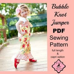 Bubble Knot Jumper PDF Sewing Pattern 3m-8 girls | YouCanMakeThis.com