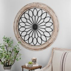 Rustic Circle Medallion Wall Plaque | Kirklands