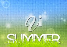 Tech summer design with grass on mosaic background. Summer Clipart, Most Beautiful Words, Summer Design, Clipart Images, English Language, Royalty Free Images, Grass, Mosaic, Clip Art