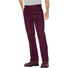 Dickies Men's 874 Traditional Work Pants, Size: 42 x 30, Red