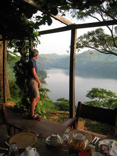 The view from Ndali Lodge in Fort Portal, Uganda