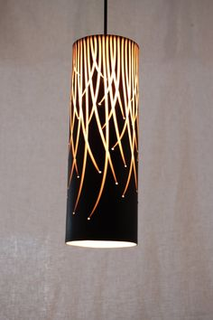 Pendant Light: Willow in Black by Tabbatha Henry of Waterbury, Vt. 2013 NICHE Awards Finalist. Category: Ceramics, Molded