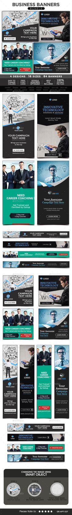 Business Banners Bundle - 4 Sets Download: http://graphicriver.net/item/business-banners-bundle-4-sets/11016923?ref=ksioks
