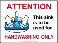 Customize Hand Washing Sink Only Kitchen Sign Kitchen