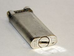 rare 1950's art deco siverplate engine turned dunhill slim liftarm lighter | eBay