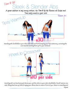Tone It Up! Blog - Sleek & Slender Abs with Karena!