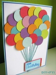 Handmade birthday card ideas with tips and instructions to make Birthday cards yourself. If you enjoy making cards and collecting card making tips, then you'll love these DIY birthday cards! Bday Cards, Happy Birthday Cards, 25th Birthday, Birthday Gifts, Balloon Birthday, Birthday Diy, Birthday Wishes, Birthday Design, Card Birthday