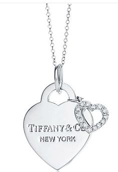 Tiffany Hearts Double Pendant