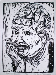 Bathing Beauty- Lino print