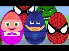 (New) Surprise Eggs For Kids - Eggs Spiderman , Pj Maks , Masha ,Hulks F...