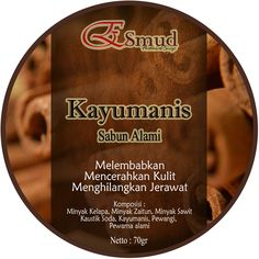cinnamon bar soap, ready for 70gr and 100gr, you can order in LINE ID: esmud_ns , we care you're beauty :)