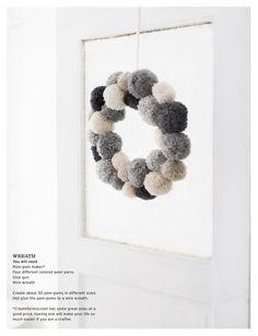 Pom Pom Wreath #wreath