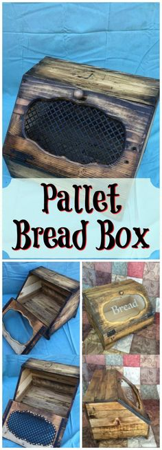 Wood Pallet Bread Box / Bread Holder - Pallets Pro