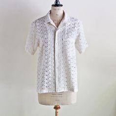 NOMA T.D - LACE PAJAMA SHIRT (OFF WHITE) /ノーマティーディー・パジャマシャツ