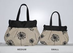 Cross Body Pleated Bag SMALL or MEDIUM w/ Adjustable by lireca on Etsy.  The small might be perfect, and this seller has the bird/sparrow & branches pattern in a few color combos.  Not sure what she would charge, though.