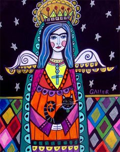 Angel Virgin of Guadalupe...by HeatherGallerArt,