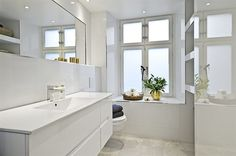 Beautiful simple minimalism bathroom interior