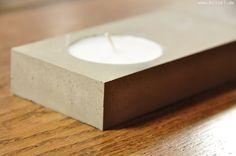 blick7: Beton + Teelicht