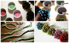 Paint your pine cones! Sugar and Cloth