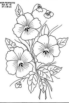 coloring pages - Embroidery Patterns Flowers; Embroidery Stitches To Write Names but Embroidery Floss Monthly Club till Garment Embroidery Near Me a Embroidery Machine Ideas Floral Embroidery Patterns, Hand Embroidery Designs, Vintage Embroidery, Flower Patterns, Embroidery Transfers, Hand Embroidery Stitches, Machine Embroidery, Crewel Embroidery, Flower Coloring Pages