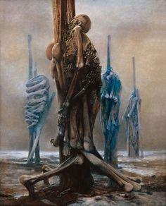 Vi proponiamo una serie di opere insolite, ma estremamente significative dell'artista Zdzisław Beksiński. Le opere surreali di Zdzisław Beksiński