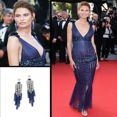 Cannes Film Festival 2014 saw Bianca Balti wearing a Chanel Spring 2012 Couture plunging V-neck sheer evening gown in dark blue. Pairing the color with her choice of earrings for the evening she chose a @chanelofficial Chanel Joaillerie 18 carat white gold Fontaine earrings set with diamonds and sapphires. She was a vision in blue indeed!#purplebyanki #diamonds #luxury #loveit #jewelry #jewelrygram #jewelrydesigner #love #jewelrydesign #finejewelry #luxurylifestyle #instagood #follow…
