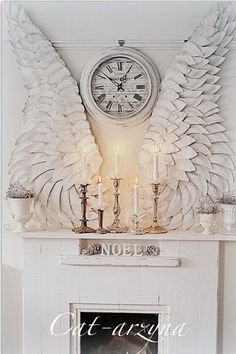 Shabby Chic  Wings Made Out Of Paper Plates