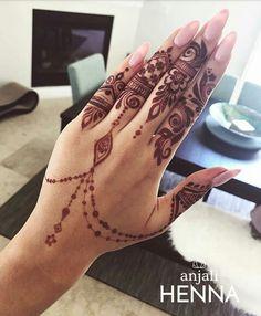 Pretty Henna Designs, Hena Designs, Unique Mehndi Designs, Henna Designs Easy, Mehndi Designs For Fingers, Beautiful Mehndi Design, Fingers Design, Henna Tattoo Designs, Mehndi Design Pictures