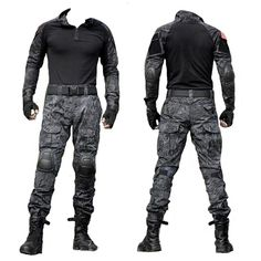 Army Military Tactical Combat Uniform Clothes With Knee Pads – (:Tap The LINK NOW:) We provide the best essential unique equipment and gear for active duty American patriotic military branches, well strategic selected.We love tactical American gear Tactical Uniforms, Tactical Armor, Tactical Pants, Tactical Clothing, Zombie Tactical Gear, Tactical Equipment, Uniform Clothes, Army Clothes, Combat Gear