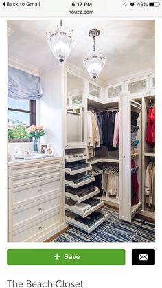35 Best Walk in Closet Ideas and Picture Your Master Bedroom Closet Organization Ideas You'll Want to Steal Immediately Closet Designs, Home, California Closets, House Design, Interior, New Homes, Closet Remodel, Closet Vanity, Closet Inspiration