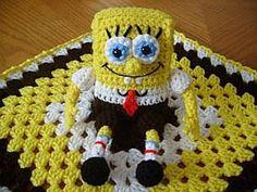 crochet+spongebob+pattern+free | SpongeBob Buddy Security Blanket Crochet Pattern (pay $3.48): Crochet ...
