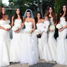 DHgate kardashian bridesmaid dresses