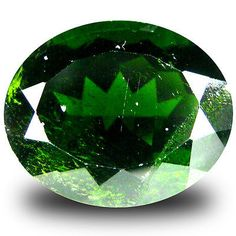 Diopside 110794: 9.31 Ct Eye-Popping Oval Shape (14 X 12 Mm) Green Chrome Diopside Gemstone -> BUY IT NOW ONLY: $34.99 on eBay!