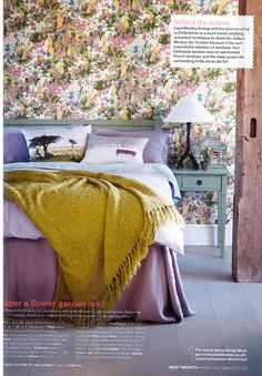 Country Homes & Interiors April 13 Ciel Blue Bedlinen Country House Interior, Country Homes, April 13, Natural Home Decor, Kitchen Linens, Table Linens, Linen Bedding, Interiors, Pure Products