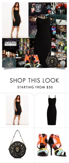 """""""🎉Party Animal🎉"""" by cheyenne-muter ❤ liked on Polyvore featuring Bebe, MaxMara, Pierre Hardy, romwe, LittleBlackDress, partydress and partying"""