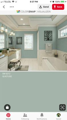 Master bathroom or bedroom Interior Paint Colors, Paint Colors For Home, House Colors, Paint Colours, Wall Colors, Bathroom Colors, Bathroom Designs, Rico Design, Room Paint