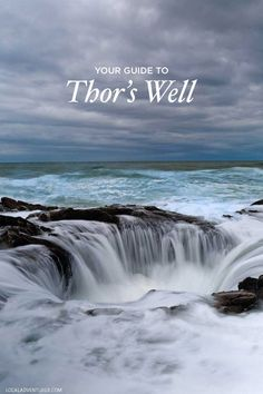 Guide to Thor's Well Cape Perpetua Scenic Area Oregon Coast - - Thor's Well is a must-see feature in Oregon, but it can be tricky to find. Here is a Guide to Thor's Well Cape Perpetua Scenic Area Oregon Coast. Oregon Vacation, Oregon Road Trip, Oregon Travel, Vacation Spots, Travel Usa, Oregon Coast Roadtrip, Road Trips, Usa Roadtrip, Beach Travel