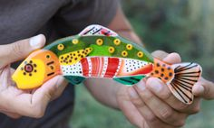 multicolored inch fused glass decorative fish