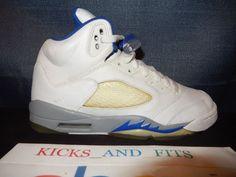 f59c2ff0b4a 2006 Nike Air Jordan V 5 Retro 5Y White Grey Blue RIGHT SHOE ONLY OG 134092
