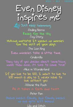 Disney inspires me.