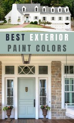 10 inviting popular Sherwin Williams exterior paint color ideas to consider when selecting a color for your house. Begin your next project with these beautiful popular Sherwin Williams exterior colors. House Exterior Color Schemes, White Exterior Houses, Exterior Paint Colors For House With Stone, Exterior House Colors Grey, Stucco House Colors, Grey House Exteriors, White Stucco House, Modern House Colors, Red Brick Exteriors
