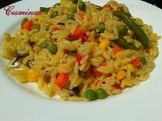 Zeleninová slovenská ryža (fotorecept) Egg Rice Recipe, Rice Recipes, Russian Recipes, Easy Cooking, Fried Rice, Orzo, Risotto, Menu, Chinese
