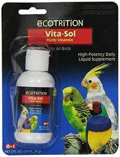 Ecotrition VitaSol High Potency MultiVitamin Bird Supplement 2Ounce D372 *** Read more reviews of the product by visiting the link on the image.Note:It is affiliate link to Amazon.