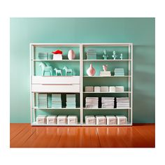 FJÄLKINGE Shelving unit with drawers, white white 118x193 cm